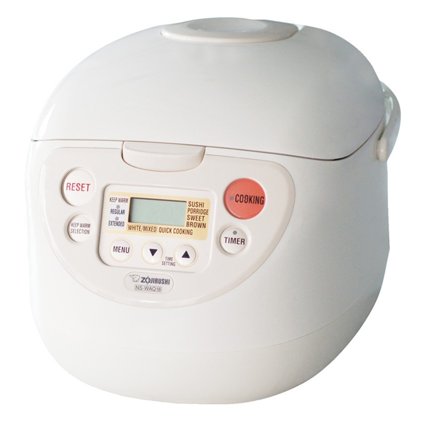 Zojirushi Micom Fuzzy Logic Rice Cooker/Warmer NS-WAQ18 White color