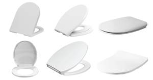 variety of white toilet seat covers