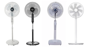 different standing fans to choose from