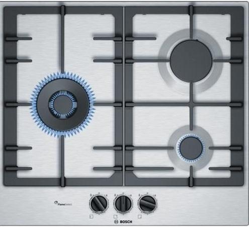 Bosch PCC6A5B90K Stainless Steel Gas kitchen Hob