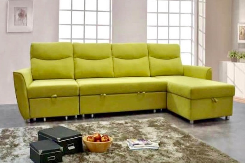 Casa lifestyle yellow green sofa bed