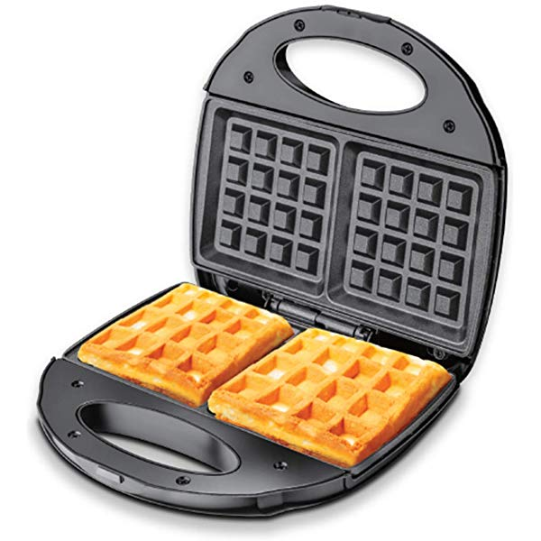 Cornell 2 Slice Waffle Maker CWM-2308 with waffles inside