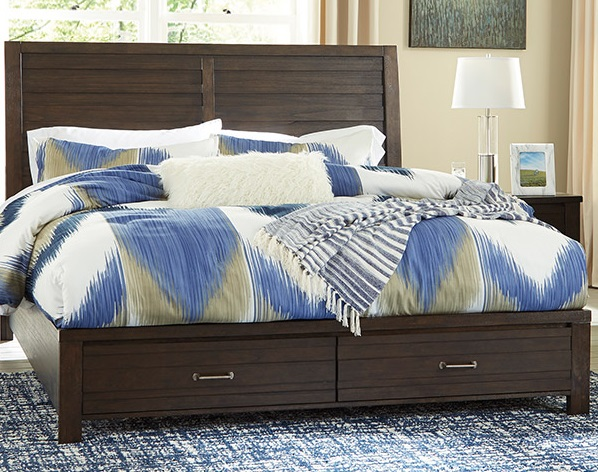 Darby panel bed with storage
