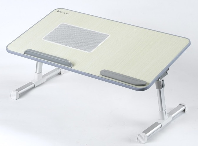 Grey Xgear A8 Foldable Portable Laptop Desk Bed Table