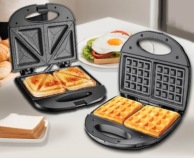 PowerPac Double-sided Heating Electric Waffle maker