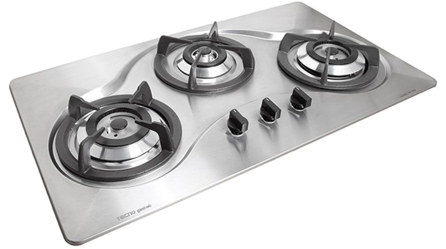 Tecno 3 Burner 90cm Stainless Steel Cooker kitchen Hob