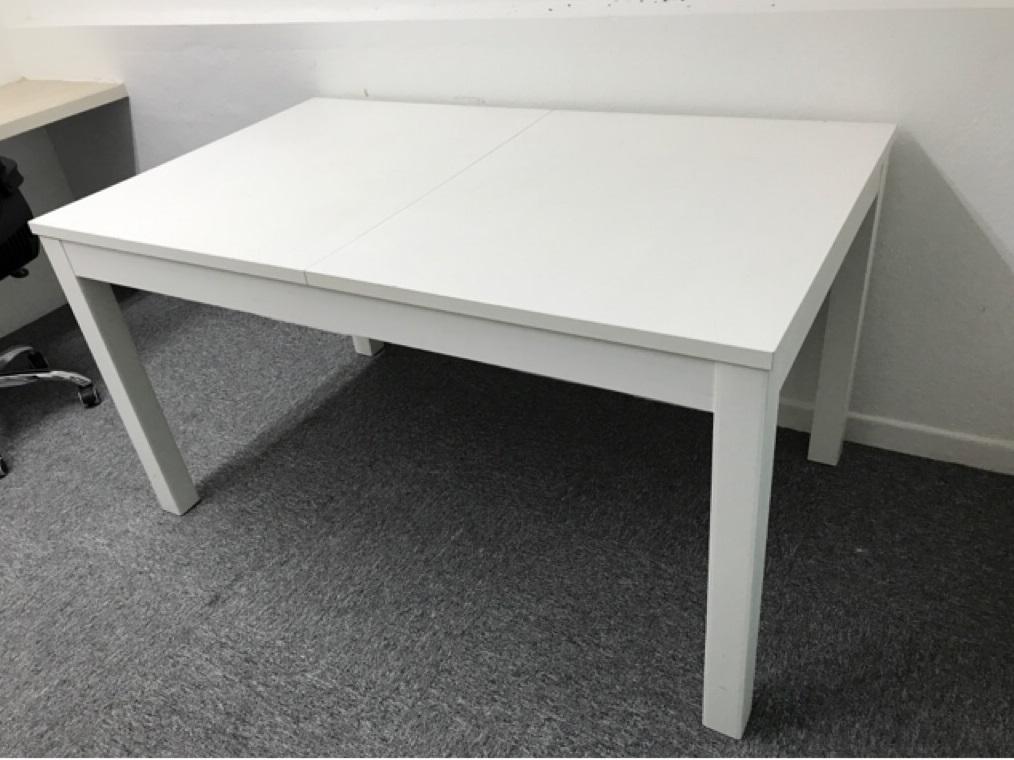 Bjursta White Extendable Dining Table