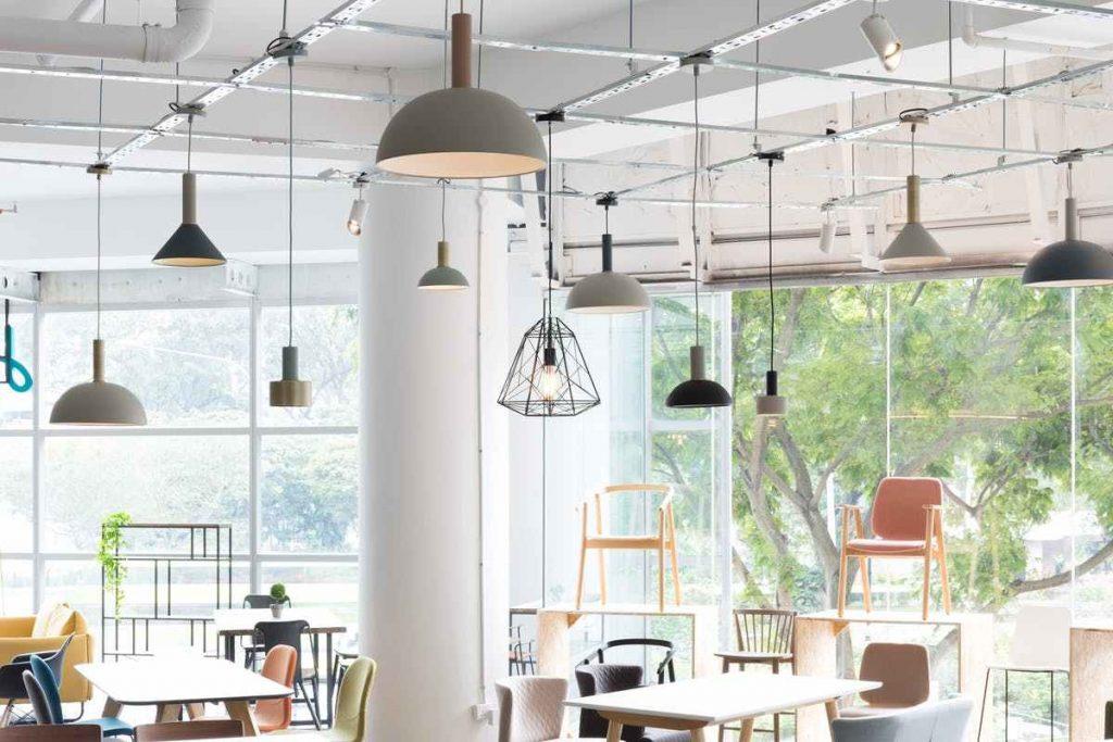 Hipvan ceiling lights showroom i singapore