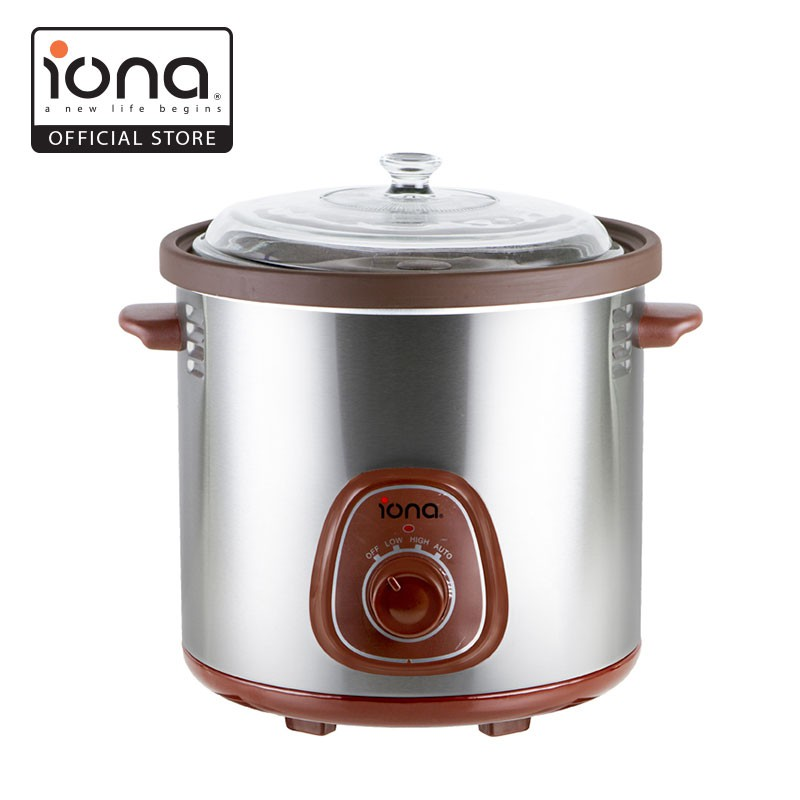 IONA GLSC350 Purple Clay Auto Slow Cooker