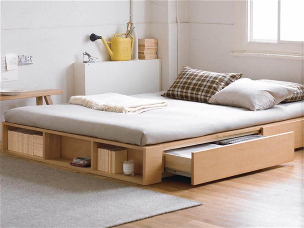 Muji Oak Storage Bed