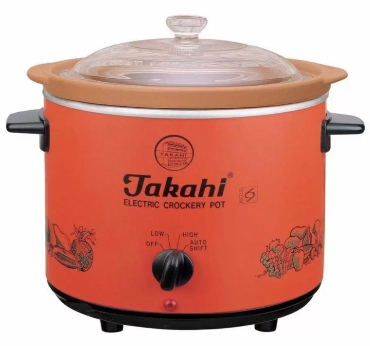 Takahi Pot 2404HR-WO Electric Crockery Pot