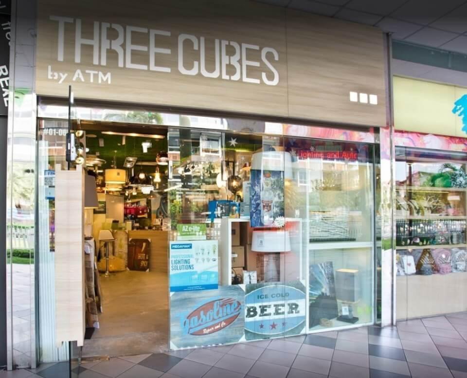 THREECUBES lighting store in singapore