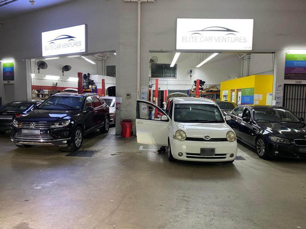entrance of Elite Car Ventures car workshop