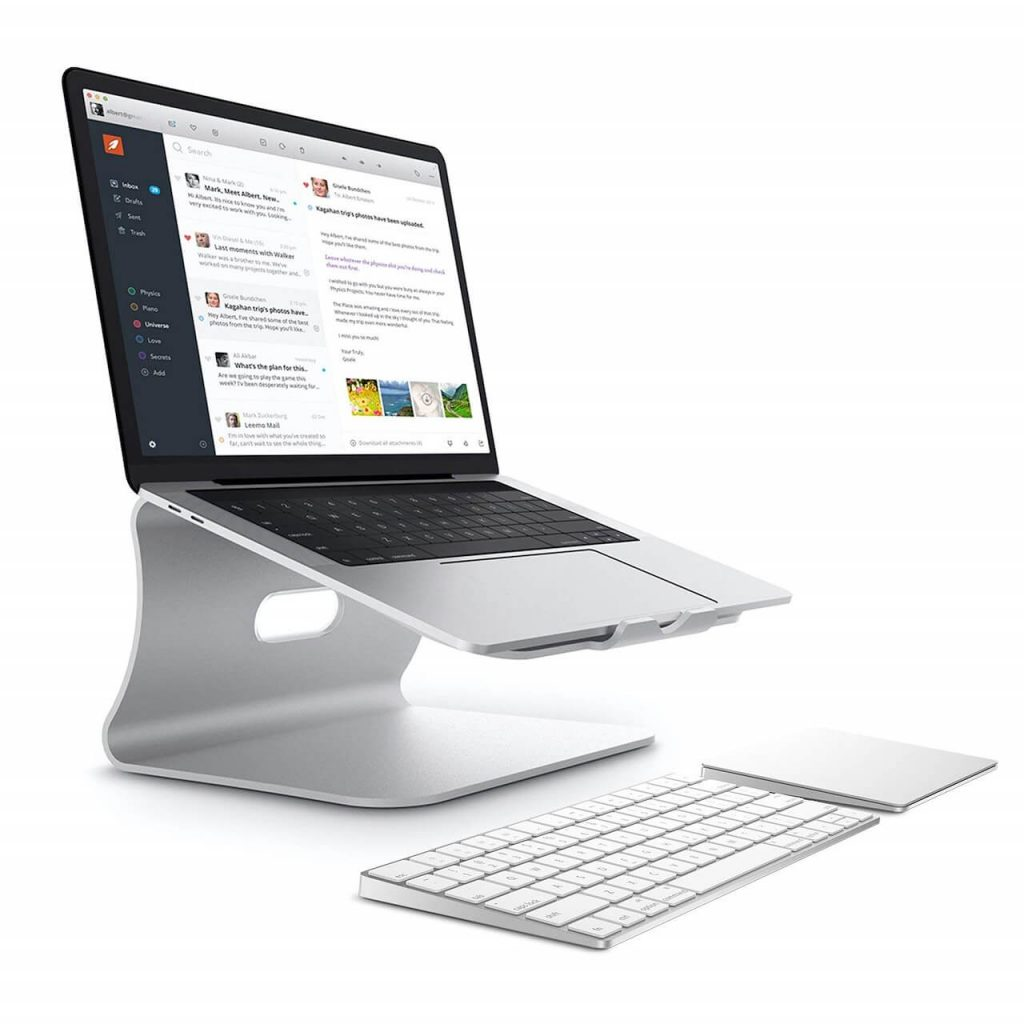 Bestand TI-Station Laptop Aluminium Cooling Stand Mount Holder For Macbook and All Notebooks