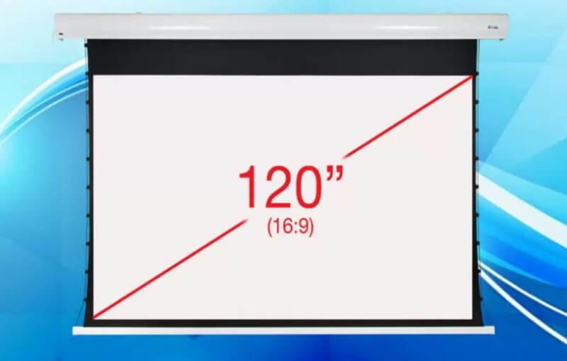 BIGSHINE 120 Inch (16:9) Integrated Motorized Projector Screen