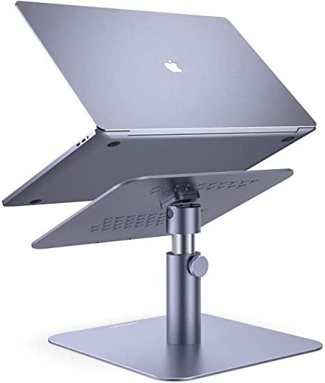 Adjustable Laptop Stand, Lamicall Laptop Riser : Multi-Angle Height Adjustable 360°Rotation Computer Notebook Stand Desktop Holder
