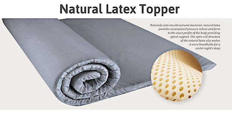 MaxCoil Perfect Sleeper - Natural Latex Mattress Topper