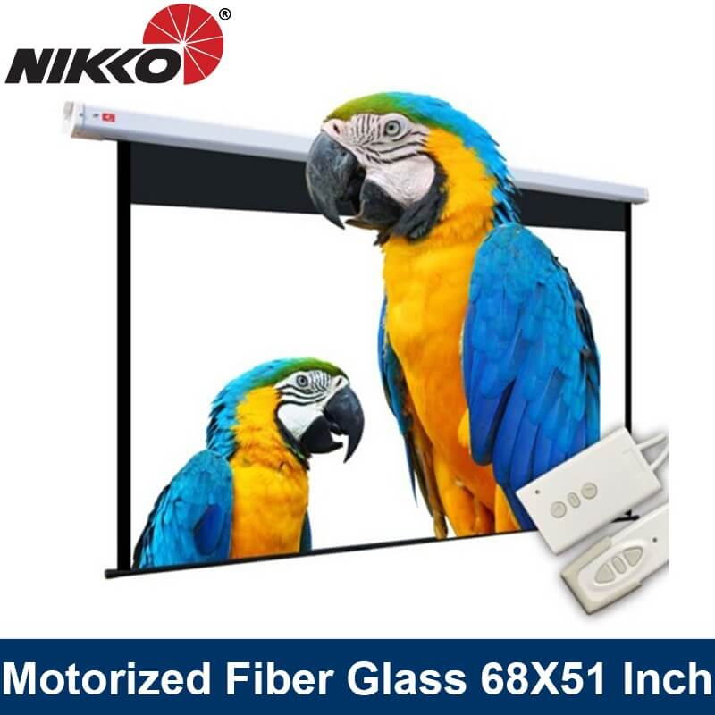 Nikko Motorized Fiber Glass Screen Tubular Motor 68 X 51 / 80 X 60 / 95 X 71 Projector Screen