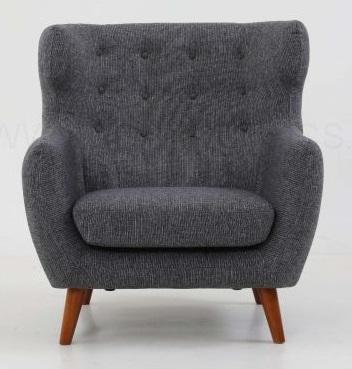 Strato Wingback Armchair Stone Grey