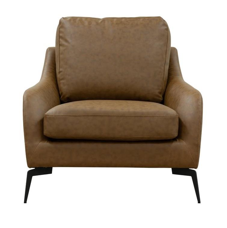 Wellington Armchair - Chestnut Faux Leather
