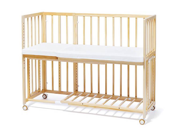 Yamatoya Soinel Long Bedside Baby Cot
