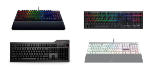 collage of some of the best mechanical keyboards in Singapore