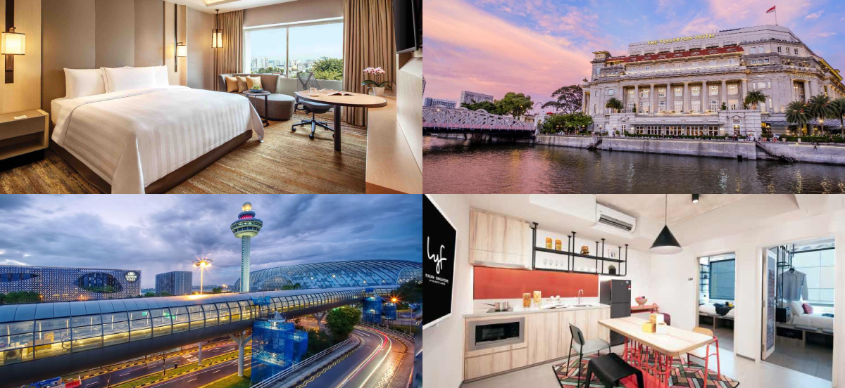 collage of best work from hotel locations in Singapore