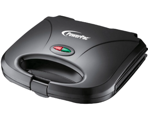 PowerPac Double-sided Heating Electric Sandwich Maker With Non-stick coating plate (PPT353)