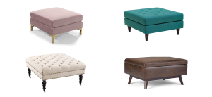 collage of the best ottoman coffee tables