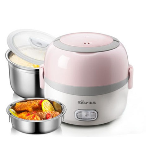 Bear Lunch box Mini Lunch Box 1.3L Electric Multi Pot/ Rice Cooker DFH-B13E5