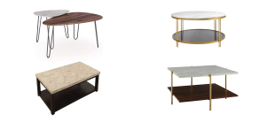 collage of the best marble coffee tables