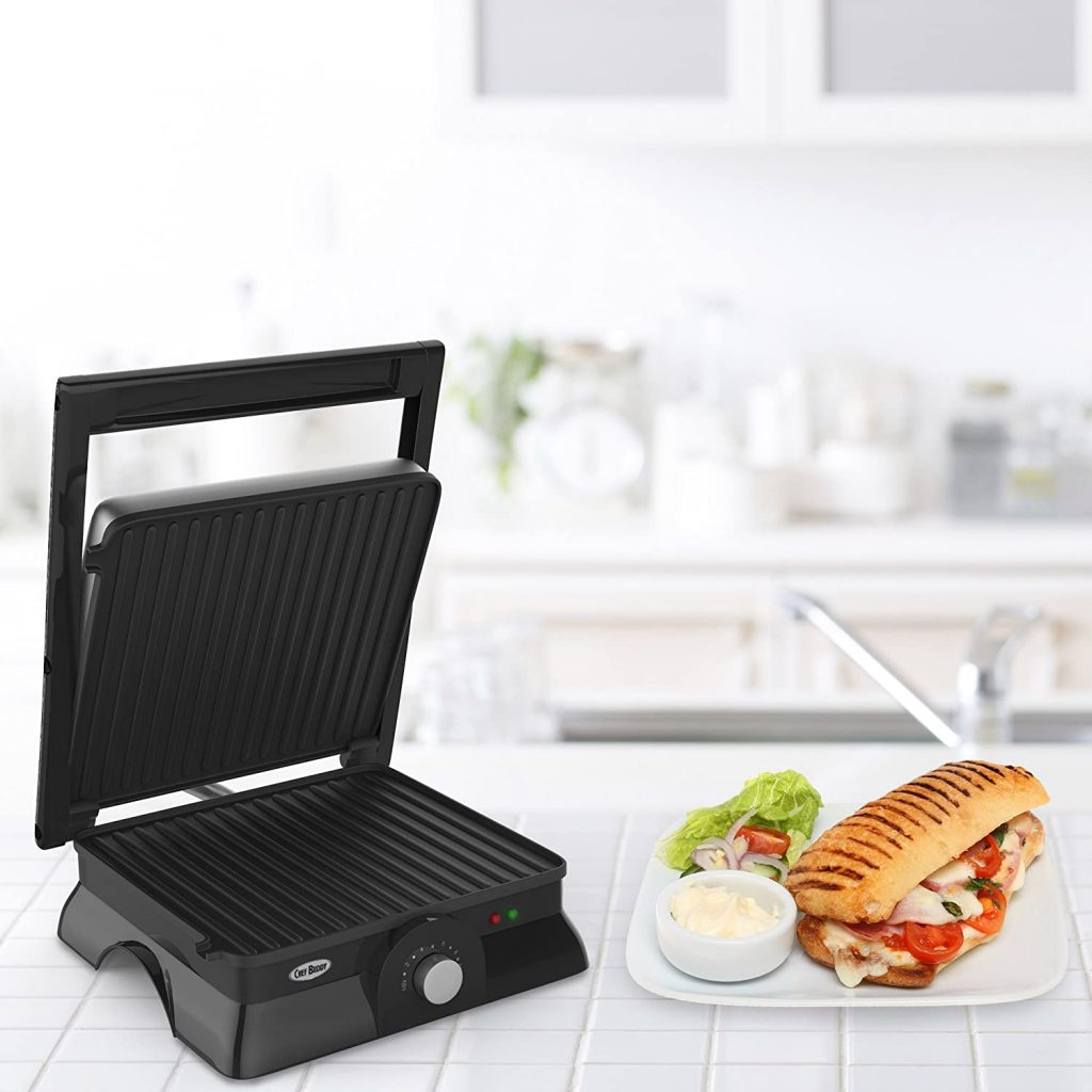 Chef Buddy 82-SW73 Panini Press Indoor Grill and Gourmet Sandwich Maker