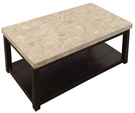 Furniture of America Della Transitional Dark Walnut Coffee Table