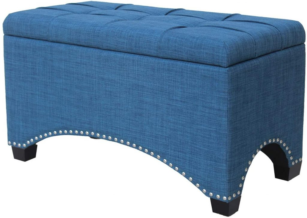 Nost & Host Ottoman Bench with Storage 30 Inches