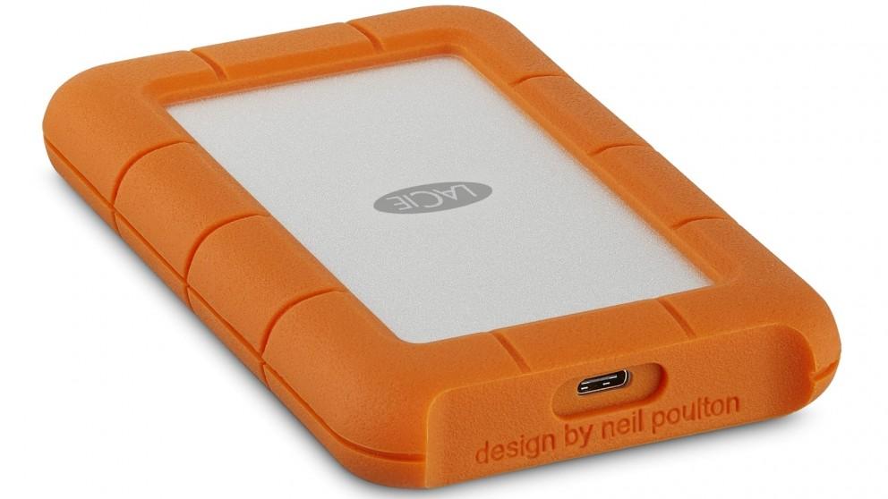 LaCie 2TB Rugged USB 3.1 Type C Portable Hard Disk