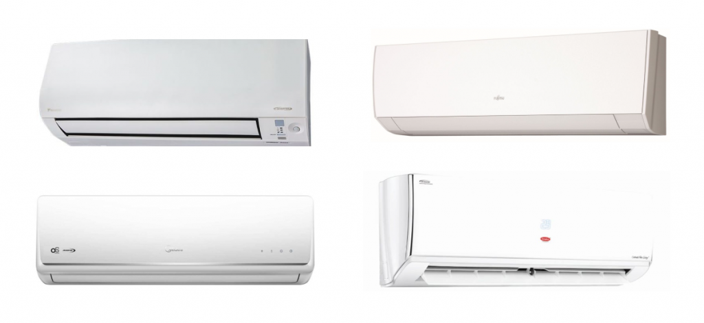 photos of aircons from the best aircon brands in Singapore
