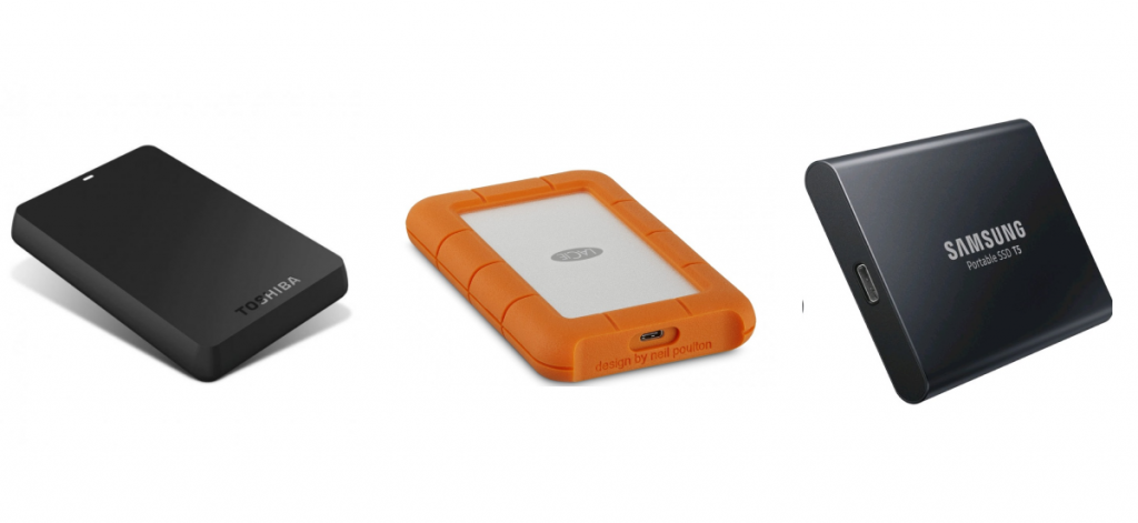 photos of the best external hard drives in Singapore
