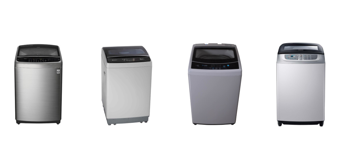 photos of some of the best top load washing machines in Singapore