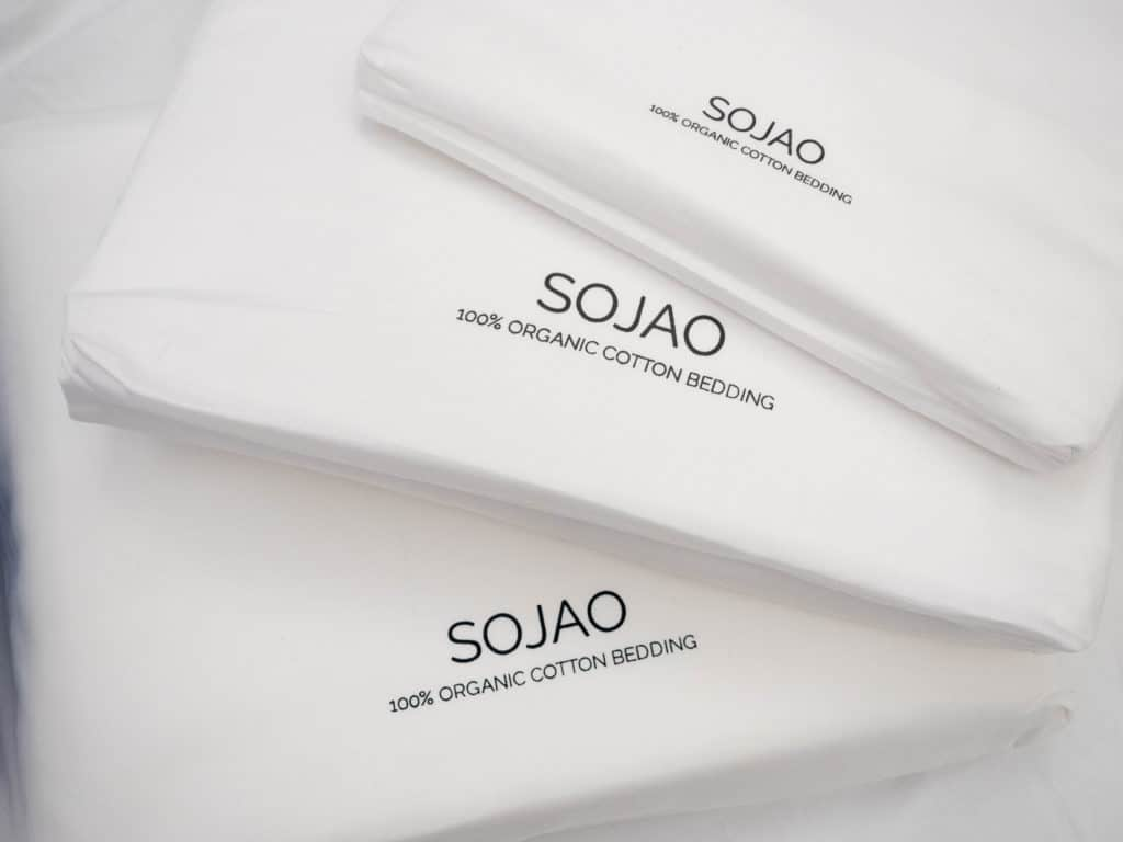 Sojao bed sheets on a bed