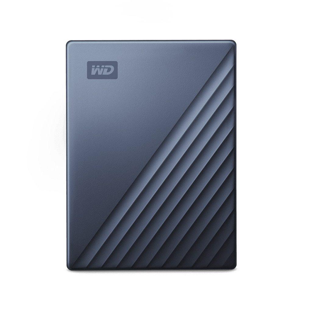 Western Digital My Passport Ultra 2TB Blue Silver Portable External Hard Drive